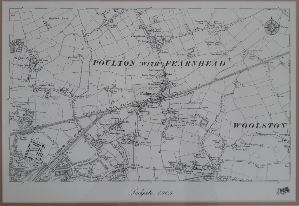 Photo of Map of Poulton with Fearnhead from 1905